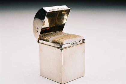 Miniature Silver Card box (complete)