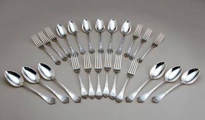 Tiffany Sterling Silver Flatware set (24 pieces) - Rare
