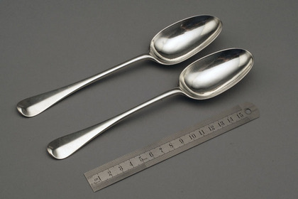 Scottish Silver Hanoverian Tablespoons (pair)