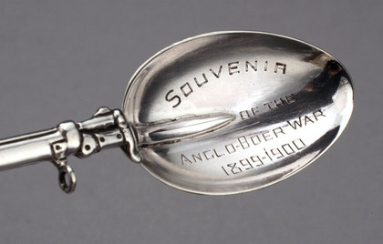 Boer War Souvenir Silver Teaspoon - Lee-Metford Rifle