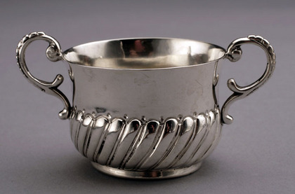 Miniature Antique Silver Porringer
