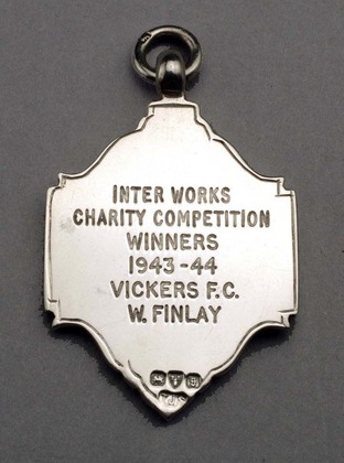 Silver Fob Medallion - Vickers, WWII.