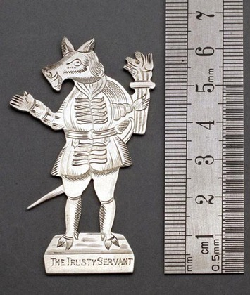 The Trusty Servant Silver Bookmark - Winchester College