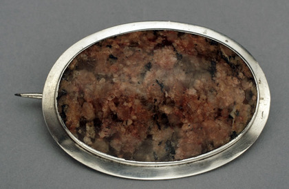 Scottish Provincial Silver and Granite Brooch - Aberdeen