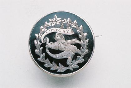 Victory & Peace brooch