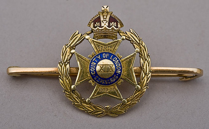 Boer War 15 Carat Gold and Enamel Sweetheart Brooch - 19th Battalion St Pancras