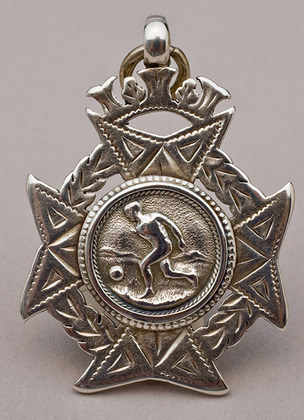 Silver Football Fob Medallion