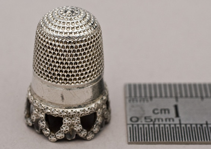 Antique Silver Thimble - Charles Horner