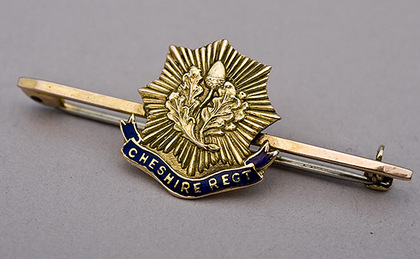 Cheshire Regiment Gold Sweetheart Brooch