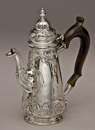George II Miniature Silver Coffee Pot - John Hugh Le Sage