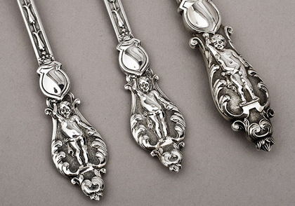 Victorian Silver Christening Set - Knife, Fork, Spoon.