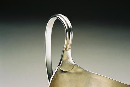 Georgian Silver Helmet Creamer - Bright Cut