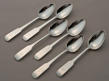Scottish Provincial Silver Teaspoon Set (6) - Dundee - William Constable