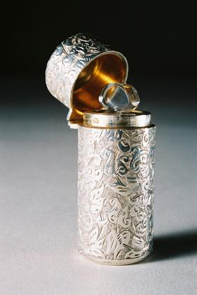 Sampson Mordan Antique Silver Perfume Bottle