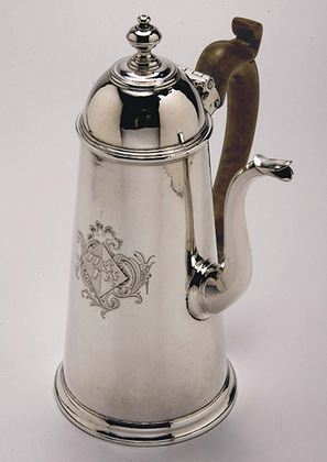 George I Silver Coffee Pot - Newdigate Family Armorial