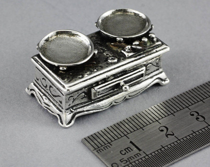 Dutch Antique Silver Miniature Toy Scale -