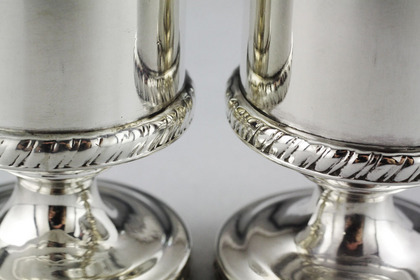 Indian Colonial Silver Salt and Pepper Castors (pair)