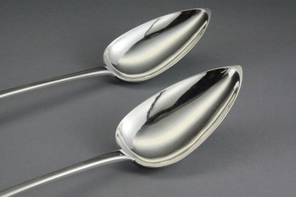 Scottish Provincial Silver Gravy Spoons (Pair) - Robert Keay, Perth