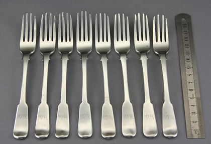 Cape Silver Dessert Forks (Set of 8) - Townsend