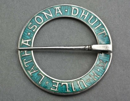 Iona Silver and Enamel Annular (Marriage) Brooch - Alexander Ritchie -
