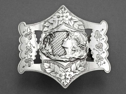 Art Nouveau Silver Nurses Belt Buckle