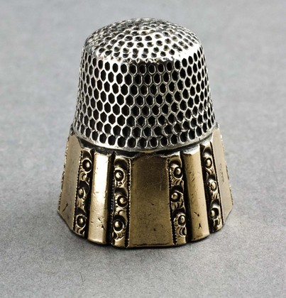 Antique Sterling Silver and Gold Thimble - Stern