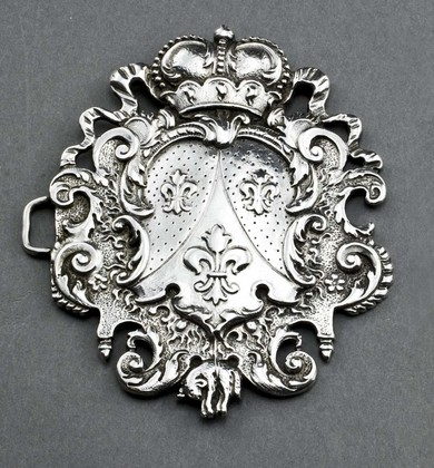 Royal Silver Belt Buckle - House of Bourbon, Order of the Golden Fleece