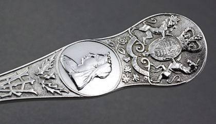 Queen Victoria Diamond Jubilee Antique Silver Spoon - 1837-1897