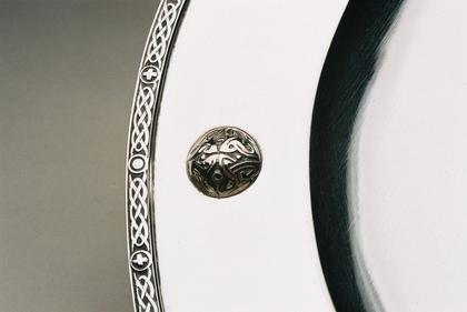 Silver tazza with Celtic design