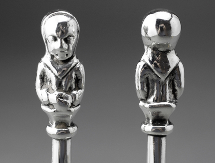 Guild of Handicraft Arts & Crafts Silver Apostle Spoons (Pair) - George Henry Hart