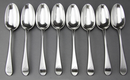 Rare Scottish Provincial Tablespoons (Set of 8) - Alexander Thompson, Aberdeen