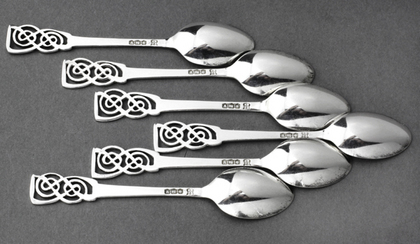 Art Deco Silver Coffee Spoons (Set of 6) - Boodle & Dunthorpe