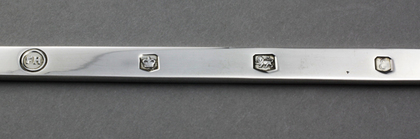 Silver 2 Pronged Notched Puritan Fork - Replica of Manners Fork, 1632