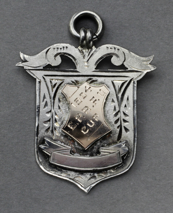 Antique Gold and Silver Fob Medallion - EPRFU Cup, 1904