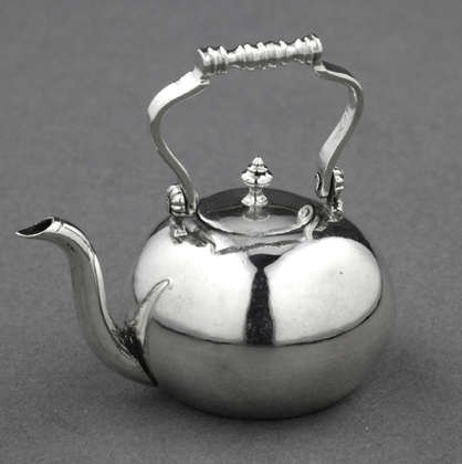 18th Century Dutch Silver Miniature Toy Kettle  - Arnoldus van Geffen
