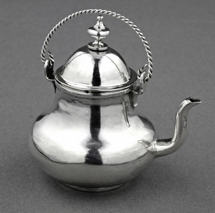 18th Century Dutch Silver Miniature Tea Kettle - Frederik van Strant II