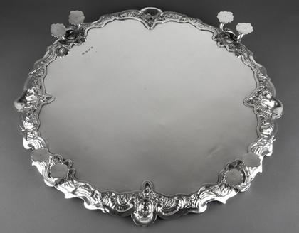 Magnificent Elkington Silver Salver - Four Seasons - 4.65 Kilogrammes