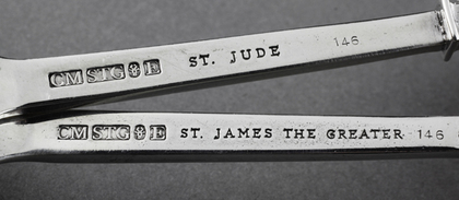Silver Apostle Spoons - St James the Greater, St Jude