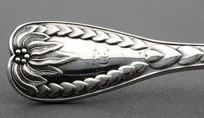 Rare Palm Pattern Silver Butter Knife