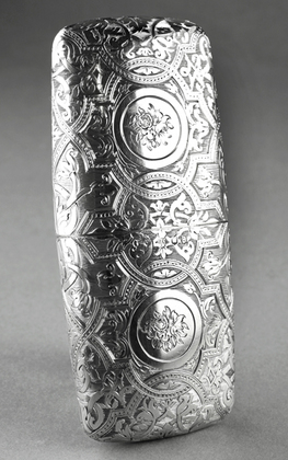 Scottish Victorian Silver Cigar Case - Carstairs Family, Should Auld Acquaintance Be Forgot