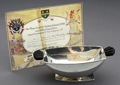 Art Deco Sterling Silver Bowl - Johannesburg Golden Jubilee Celebrations, 1936, Fortiter et Recte