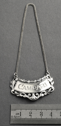 Campari Sterling Silver Wine Label