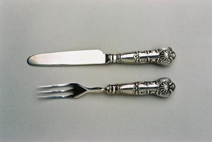 Miniature Silver knife and fork (Christening present)