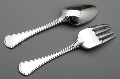 Tiffany Sterling Silver Christening Spoon and Fork - Suitable for toddler