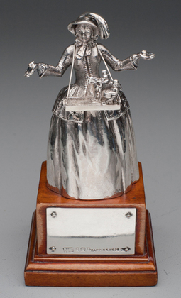 Rare Silver Sketch Girl Novelty Bell - The Sketch Magazine