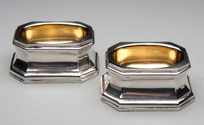 Octagonal Silver Trencher Salts (Pair)