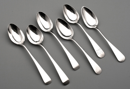 Cape Silver Teaspoons (6) - Lotter Family