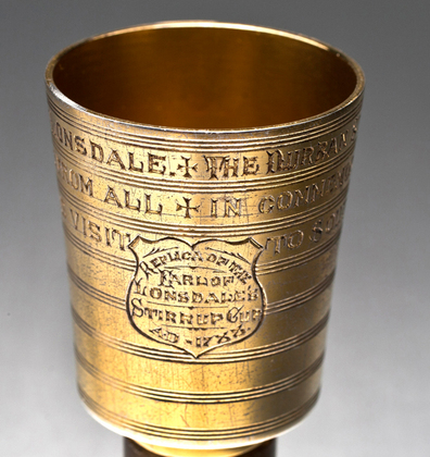 Earl of Lonsdale Silver Gilt Stirrup Cup, 1788 - The Durban Stirrup Cup