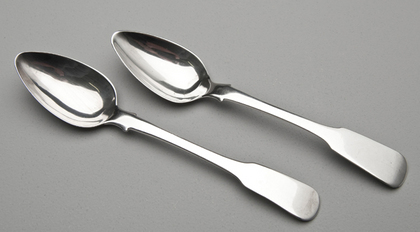 Rare Cape Silver Teaspoons (2 available) - Thomas Lock Townsend, Masonic Hallmark