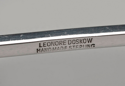 Leonore Doskow Handmade Sterling Silver Ice Tongs